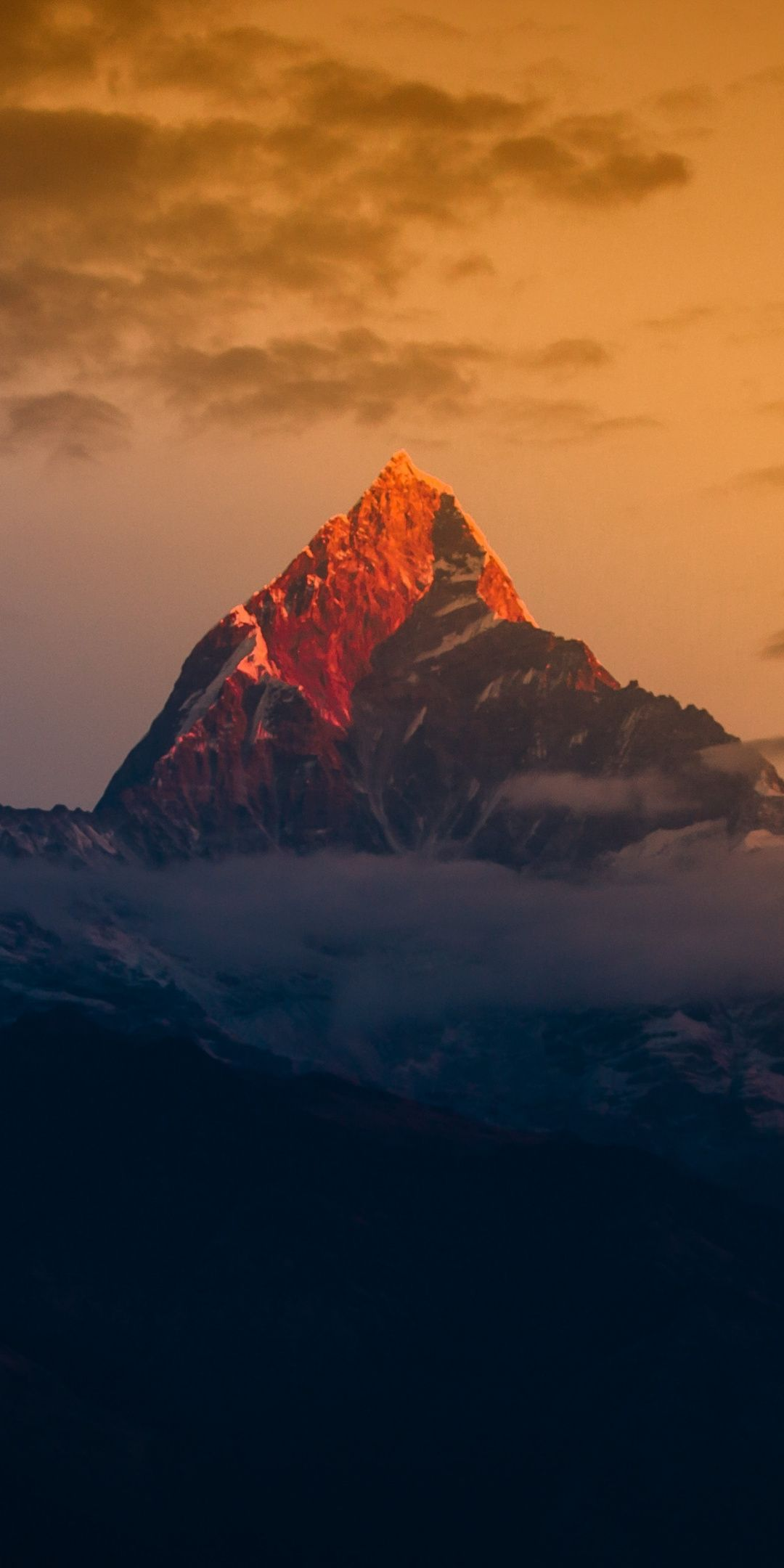 Himalayas Mountain Peak Sunset Clouds 1080x2160 Wallpaper Mountain Wallpaper Science And Nature Photography