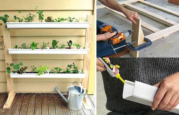 Diy Project Build A Vertical Gutter Garden For Growing