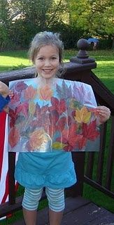 A Fun Fall Craft - pressed leaves!