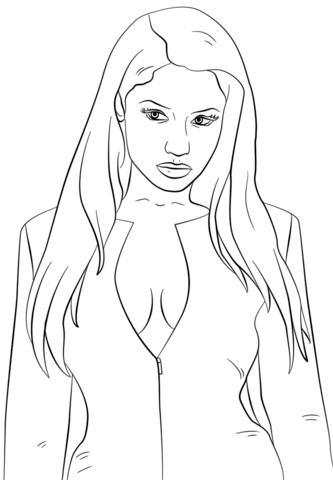 Nicki Minaj Coloring Page Ausmalbilder Portrait Coloring Pages