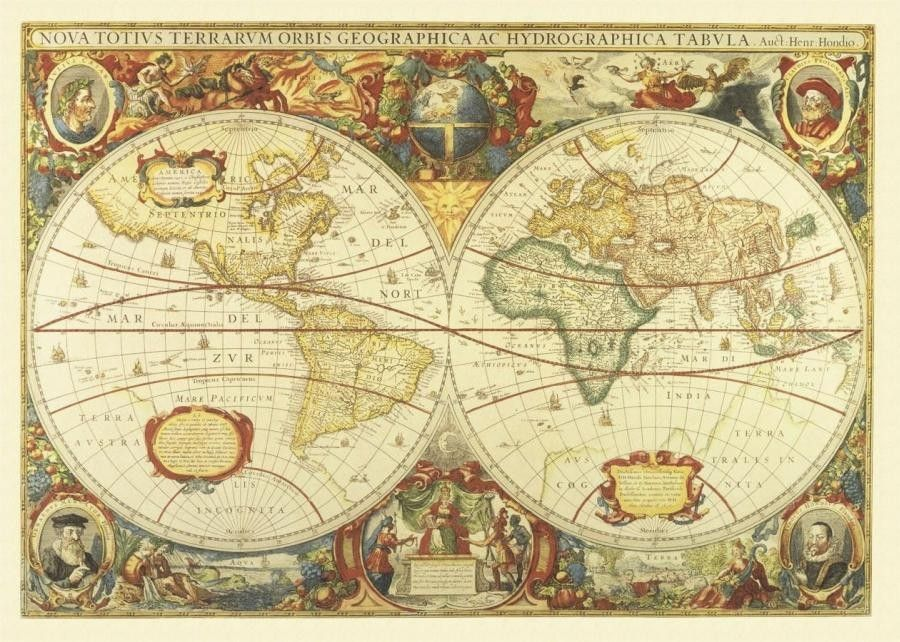 Image for Antique World Map Map Wallpaper