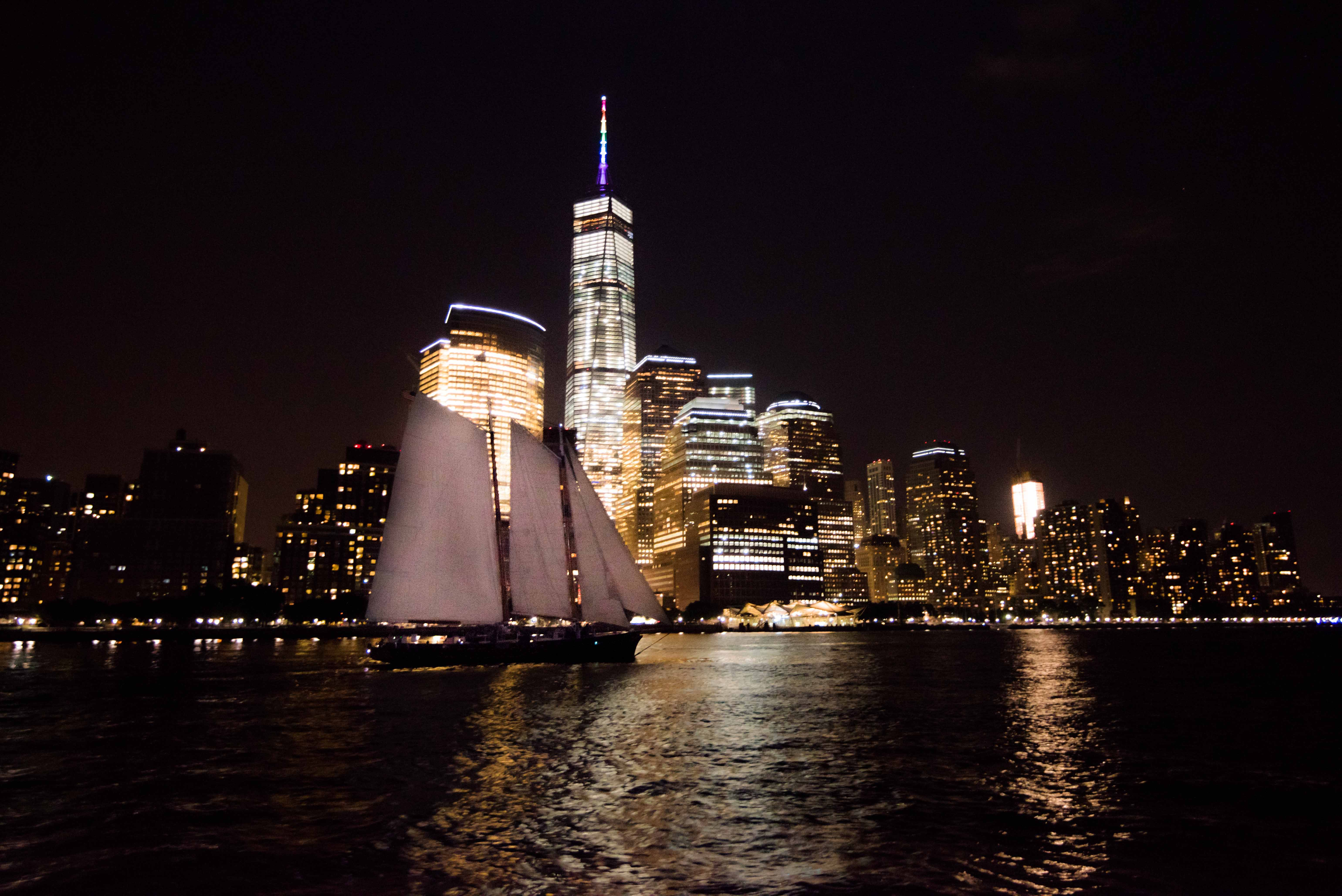 Schooner America 2.0 sailing in New York Harbor, Sailing