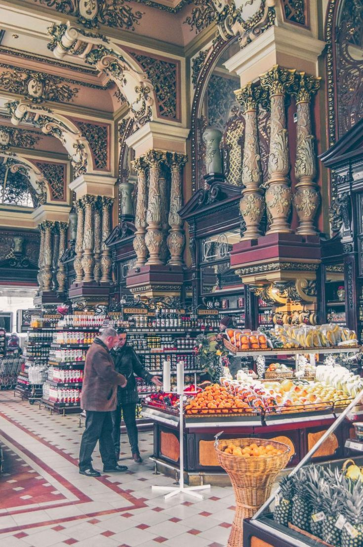 Eliseevsky store in Moscow, Russia When a supermarket is also a palace