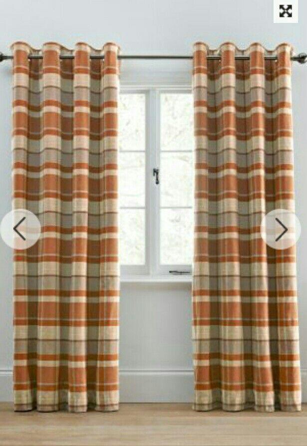 Next Ginger Rustic Curtains Orange Curtains Living Room Burnt