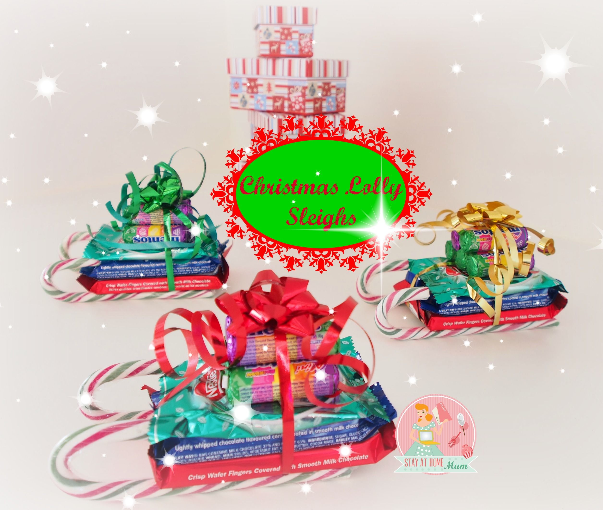 Christmas Lolly Sleighs Stay at Home Mum FUNdraising