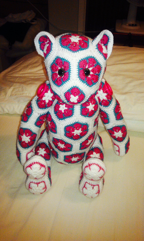 African flower bear hand made by craftypaulaa pattern available hand made by craftypaulaa pattern available at http flower crochetcrochet petcrochet african flowerscrochet pillowcrochet bankloansurffo Choice Image