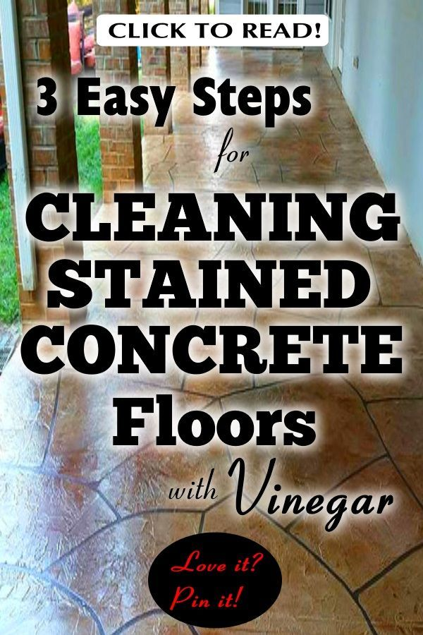 3 Easy Steps For Cleaning Stained Concrete Floors With