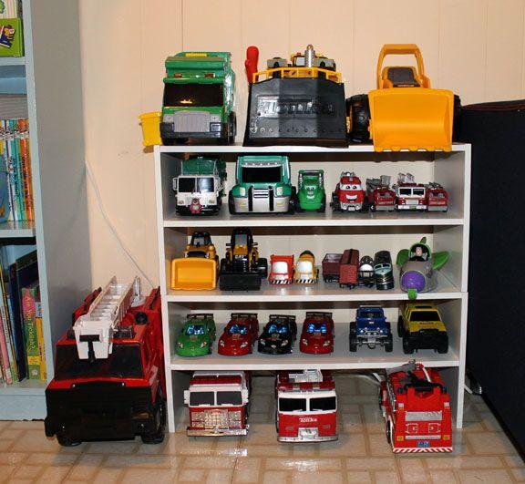 Toy Trucks Organized Toy Room Organization Toy Rooms Playroom