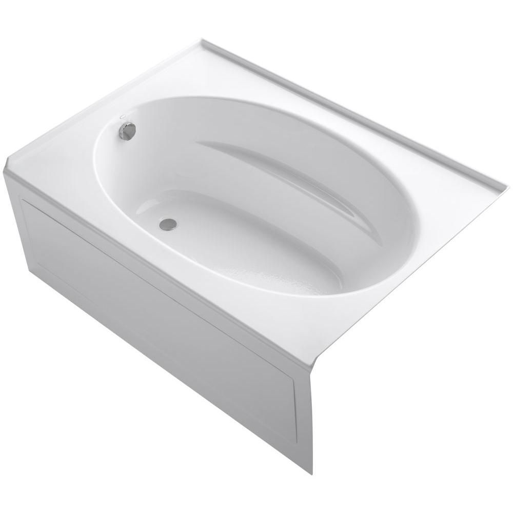 Kohler Windward 60 In X 42 In Acrylic Alcove Bathtub With Integral Apron And Left Hand Drain In White K 1113 La 0