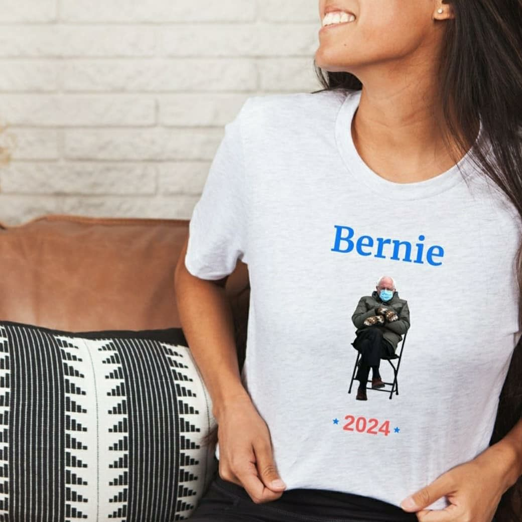 Bernie Sanders 2024 Shirt In 2021 Clothes For Women T Shirts For Women Trending Outfits