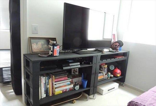 20 Pallet TV Cabinet – Reclaimed Pallets Pallets Platform