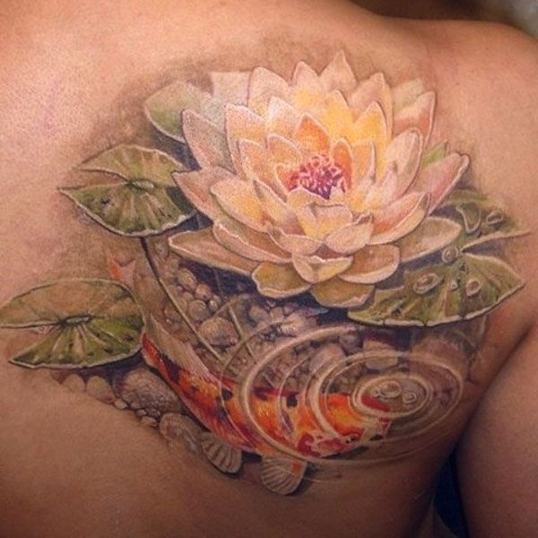 61 best lotus flower tattoo designs meanings 2019 guide for Koi pond tattoo