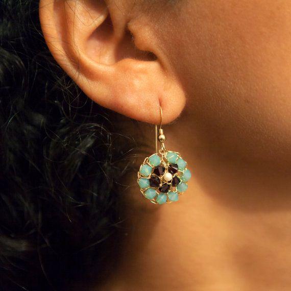 Harmony Swarovski Pearl Earrings, Wire Jewelry, #jewelry #earrings @EtsyMktgTool http://etsy.me/2i7IYSZ