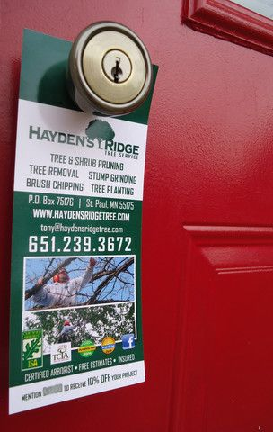 Hayden'S Ridge Tree Service Door Hangers | Marketing | Pinterest