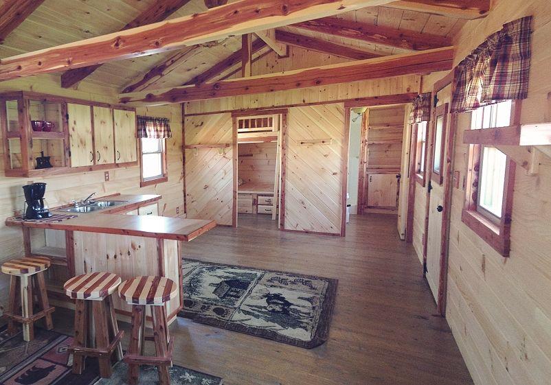 12x32 Hunter Log Cabin