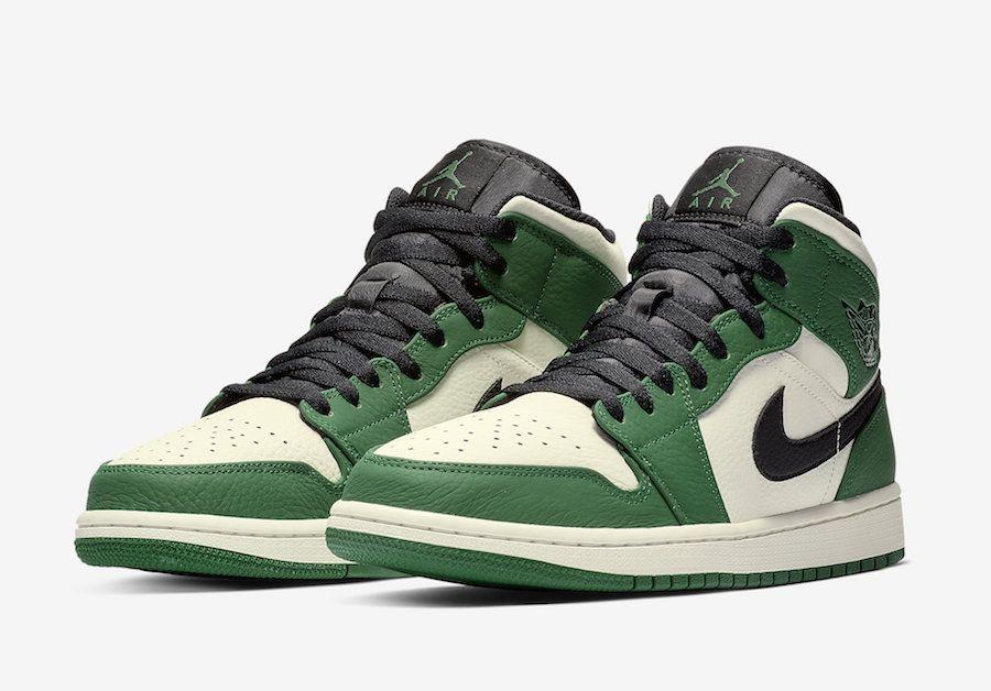 71976729e763 Air Jordan 1 Mid Pine Green 852542-301 Release Date