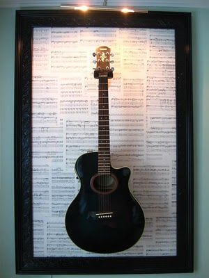 guitar frame perfect for the second room