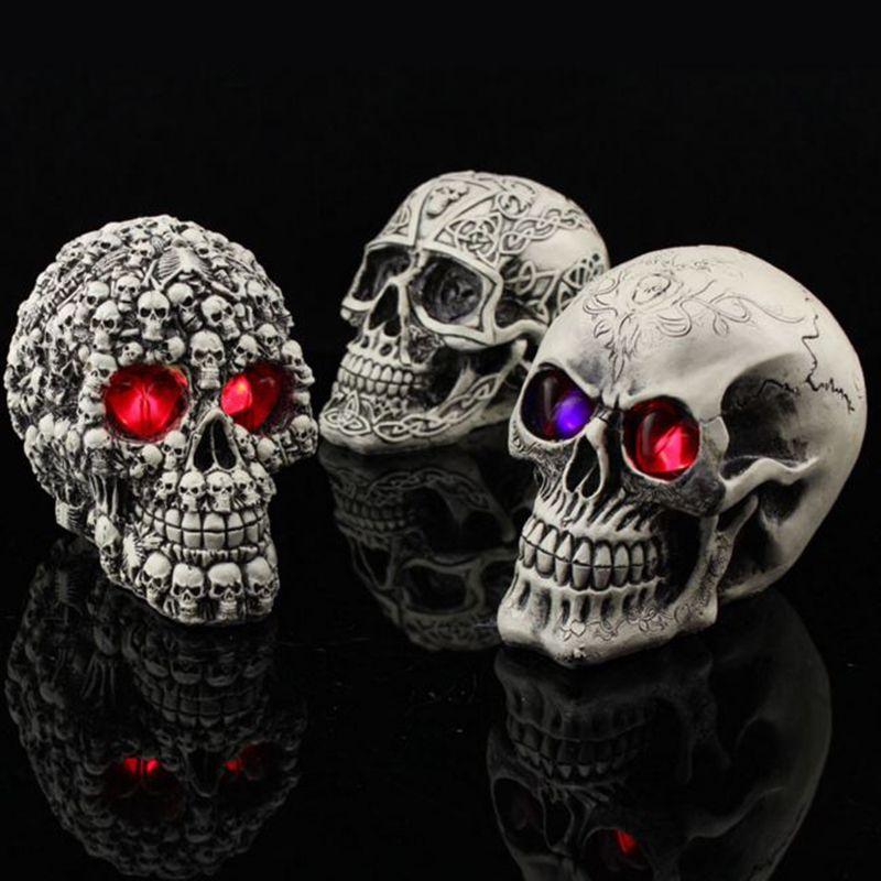 Resin Craft artesanato Skull Halloween Party oyuncak Scary Skulls 4