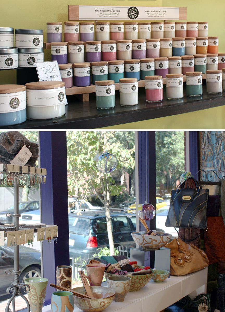 Retail Candle Display Terra Essential Soy Candles Candles Display Ideas Candle Displays Soy Candles
