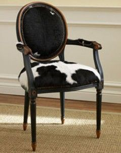 Hair Hide Round Back Chair from Neiman Marcus