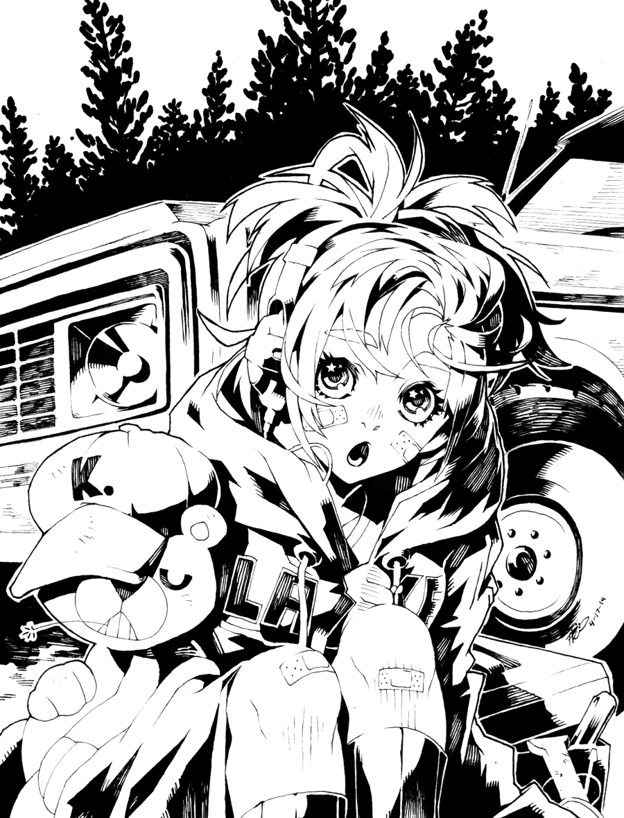 Comet By Poch4n On Deviantart Concept Art Characters Anime Drawing Styles Anime Lineart
