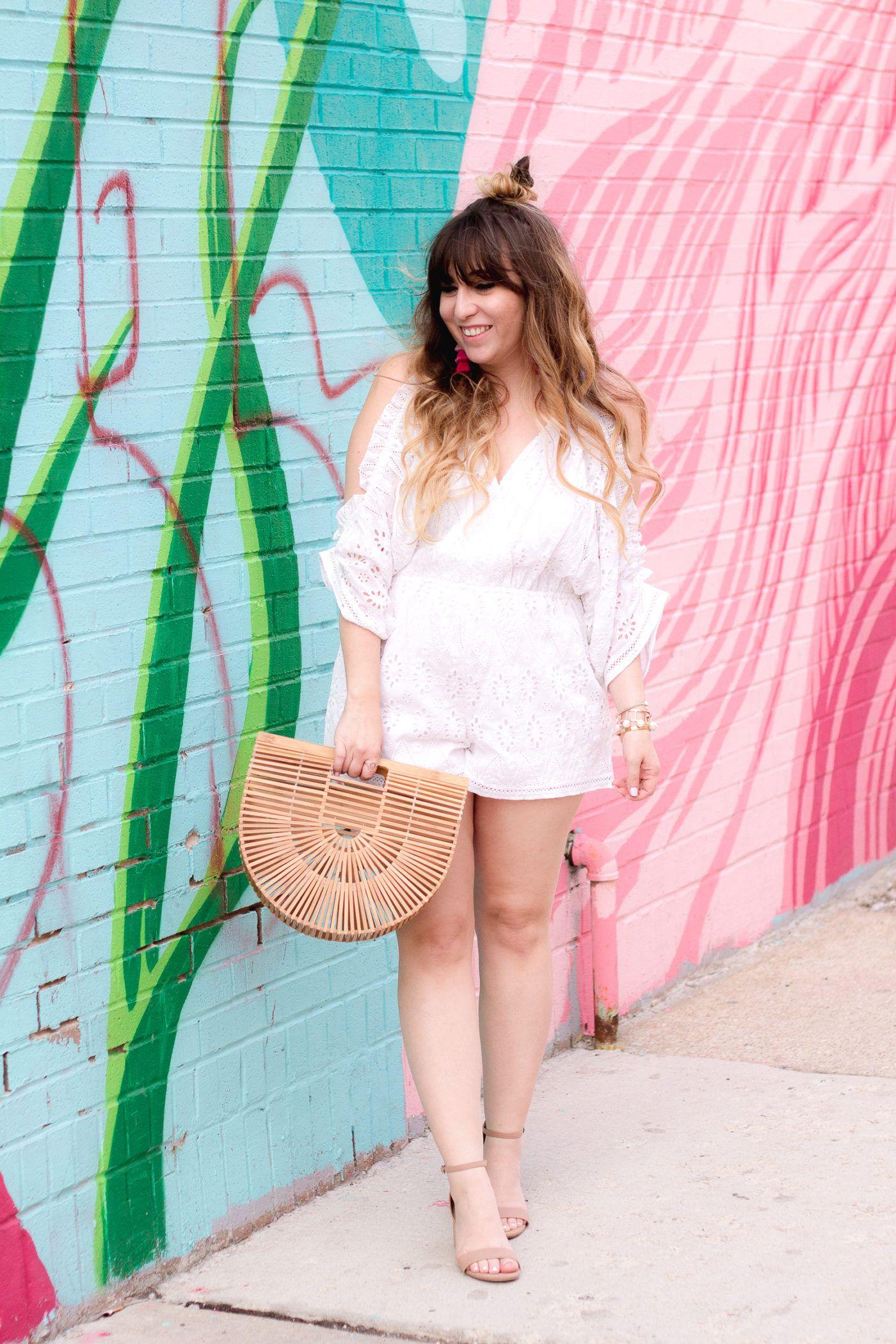 16d09cff28 Miami fashion blogger Stephanie Pernas wearing a Lovers + Friends Malia  romper