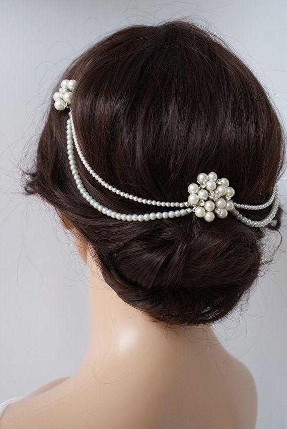 Wedding Headpiece D Hair Chain