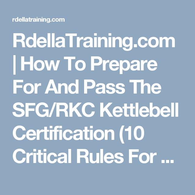 RdellaTraining.com | How To Prepare For And Pass The SFG/RKC ...