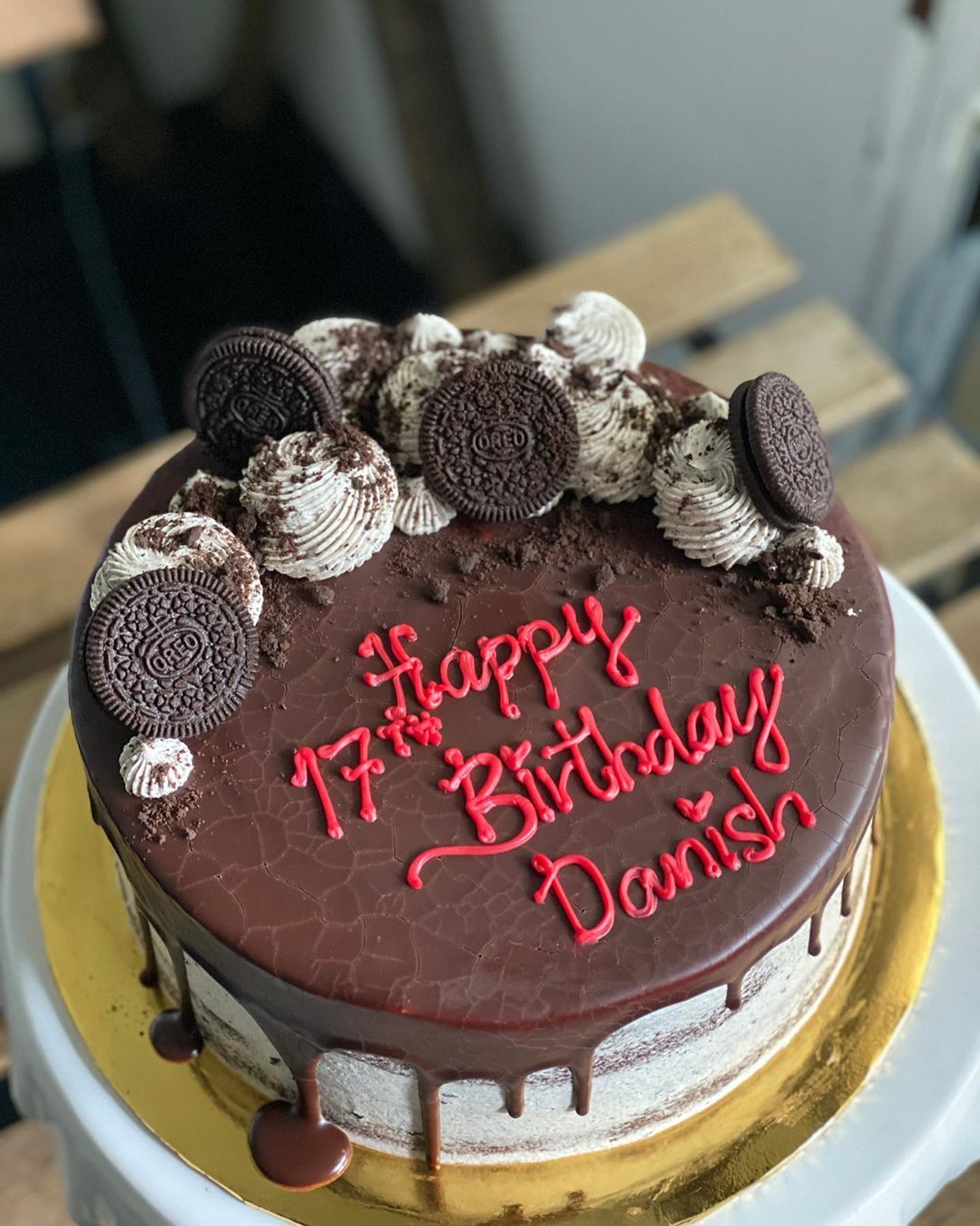 Oreo Chocolate Cake Danish . Happy Birthday Boy! ☺️ For
