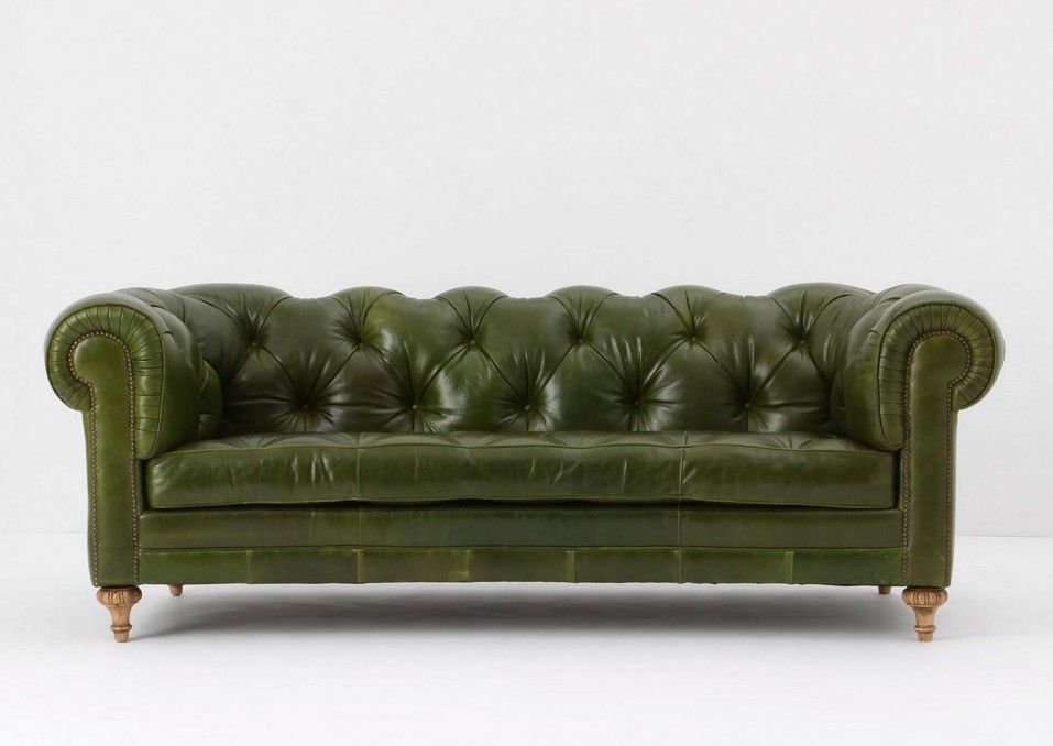 New this Atelier Chesterfield Bottle Green Leather Sofa from Anthropologie It was gorgeous and fy in store New Design - New Green Chesterfield sofa Top Search