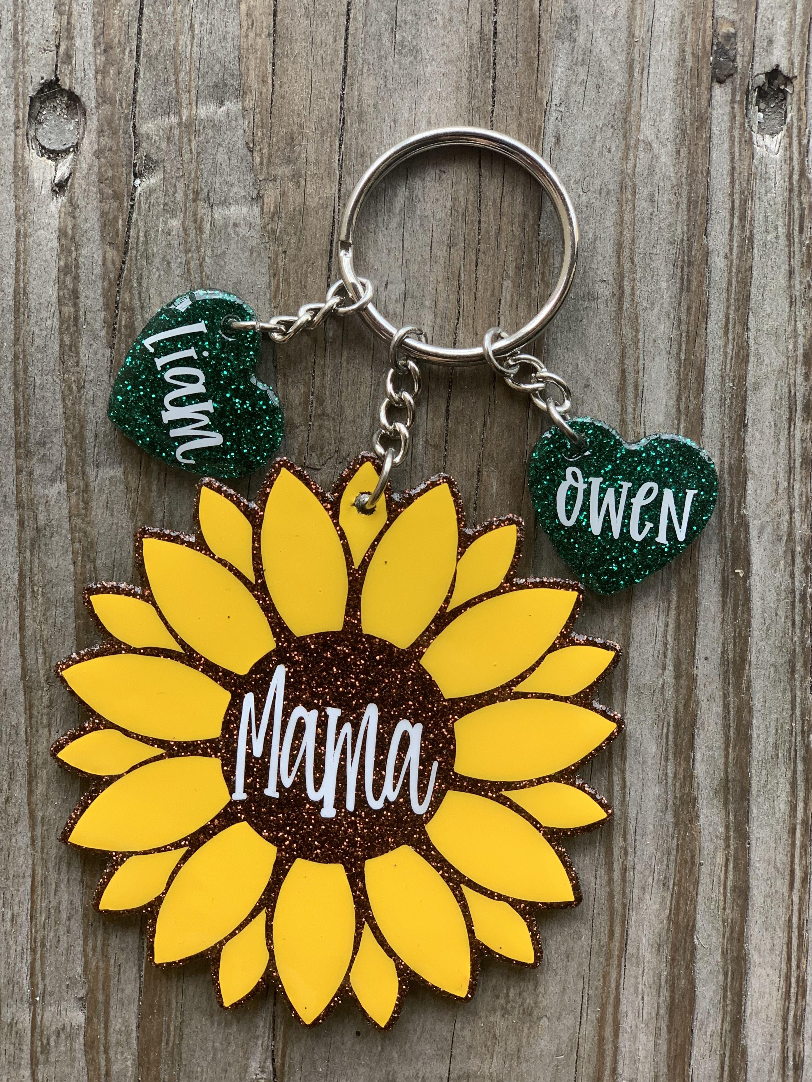 Keychain Resin Sunflower