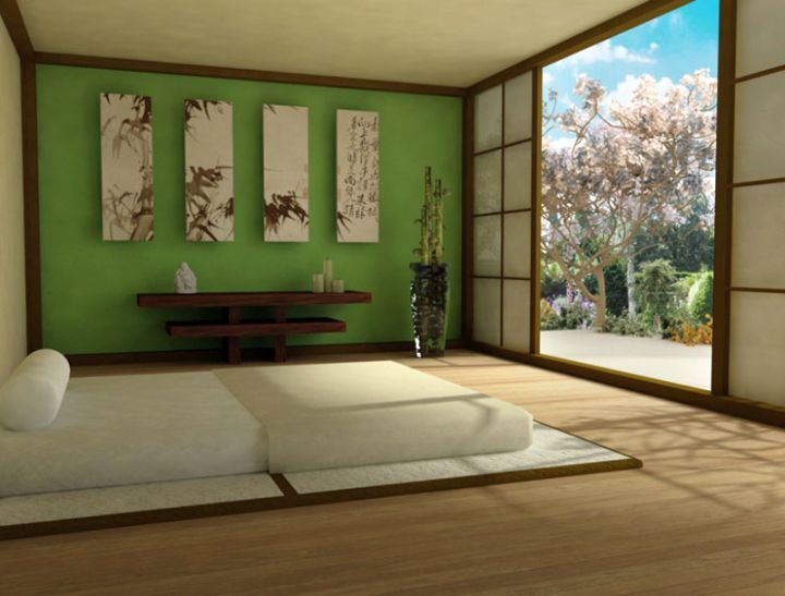 Ordinary Small Zen Bedroom Ideas Part - 5: Zen Bedroom Ideas With Paper Doors