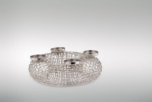 adventskranz m zum ffnen und bef llen bezahlbarer luxus in silber. Black Bedroom Furniture Sets. Home Design Ideas