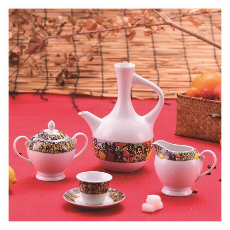 Jebena Ethiopia Traditional Coffee Set Ethiopian Coffee Cups