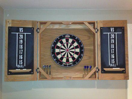 Fresh Handmade Dart Board Cabinet