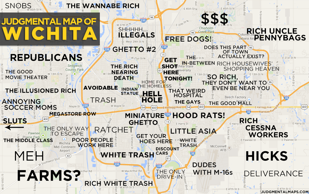 Judgmental map of Wichita, Kansas | Judgemental map of wichita ks ...