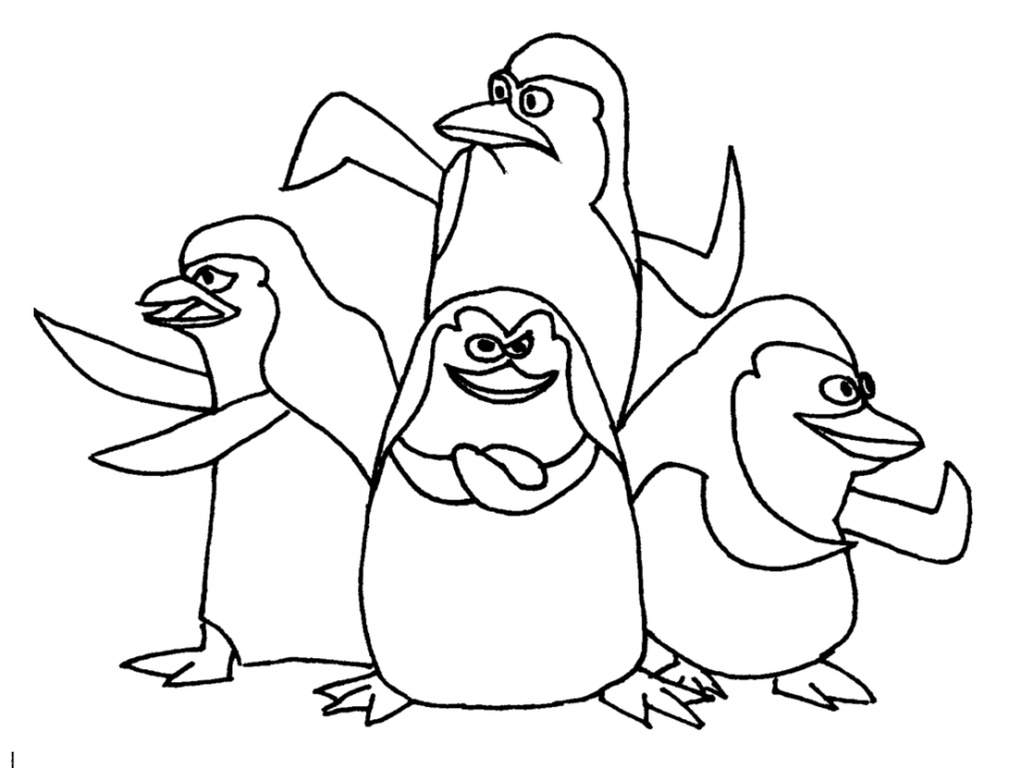 Four Penguins Strong Coloring Pages For Kids E1b Printable Penguins Coloring Pages For Kids