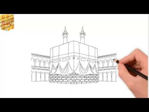 تعلم رسم مسجد قبة الصخرة القدس Learn To Draw Dome Of The Rock Mosque Youtube Mosque Drawing Black Canvas Art Islamic Art Pattern