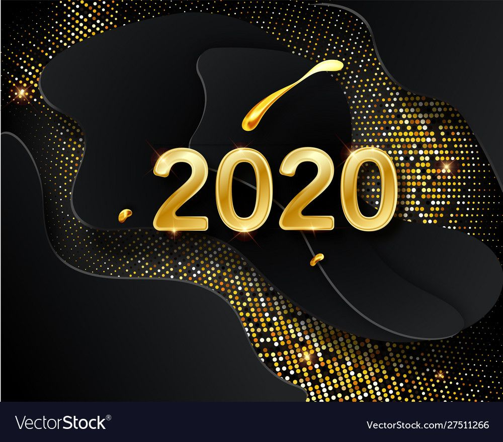 Happy new 2020 year holiday vector image on in 2020