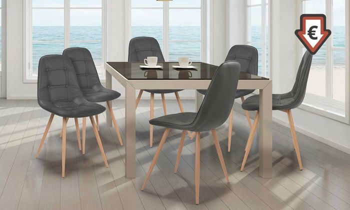 Groupon Goods Global GmbH Lot de 2 ou 4 chaises scandinaves