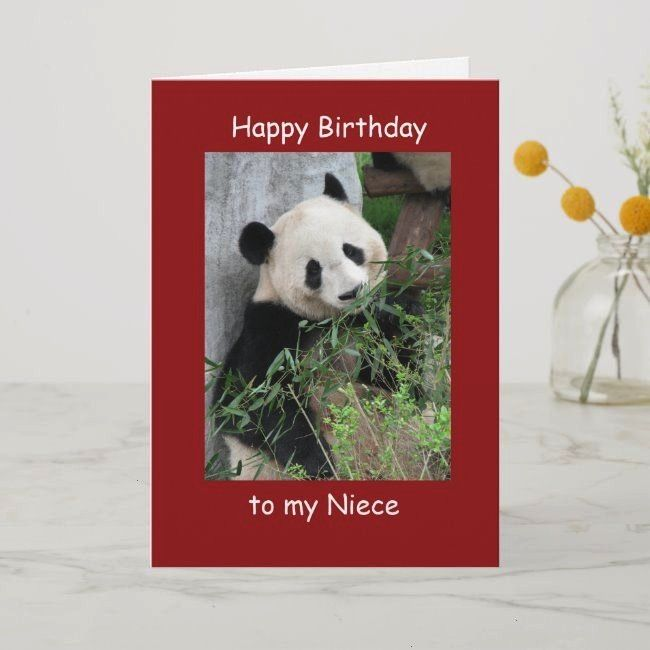 Birthday Niece Greeting Card Giant Panda CardHappy Birthday Niece Greeting Card Giant Panda Card Happy Birthday verjaardag Picasso quote Blessed are those Nature in Water...