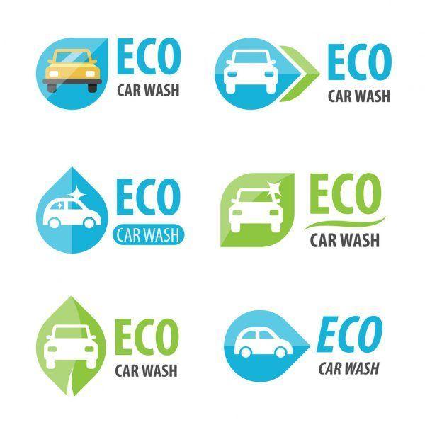 Eco car wash logo - Stock Vector , #ad, #wash, #car, #Eco, #Vector #AD #auto car wash logo