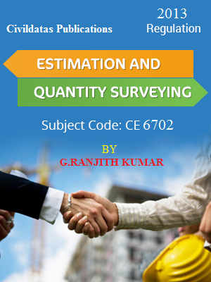 Estimation and Quantity Surveying By G Ranjith Kumar (Local Author