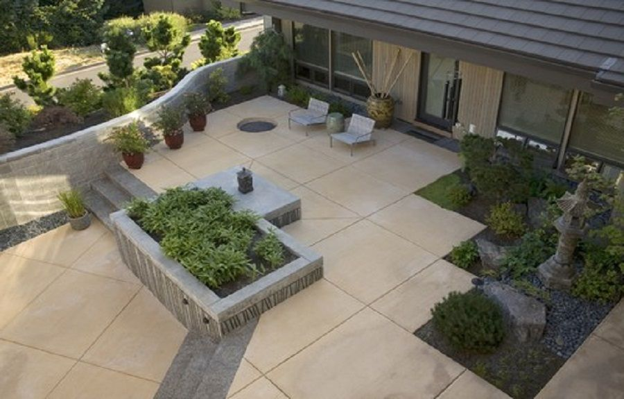 Pin By Barbara Williams On Patio In 48 Pinterest Concrete Impressive Designs For Backyard Patios Painting