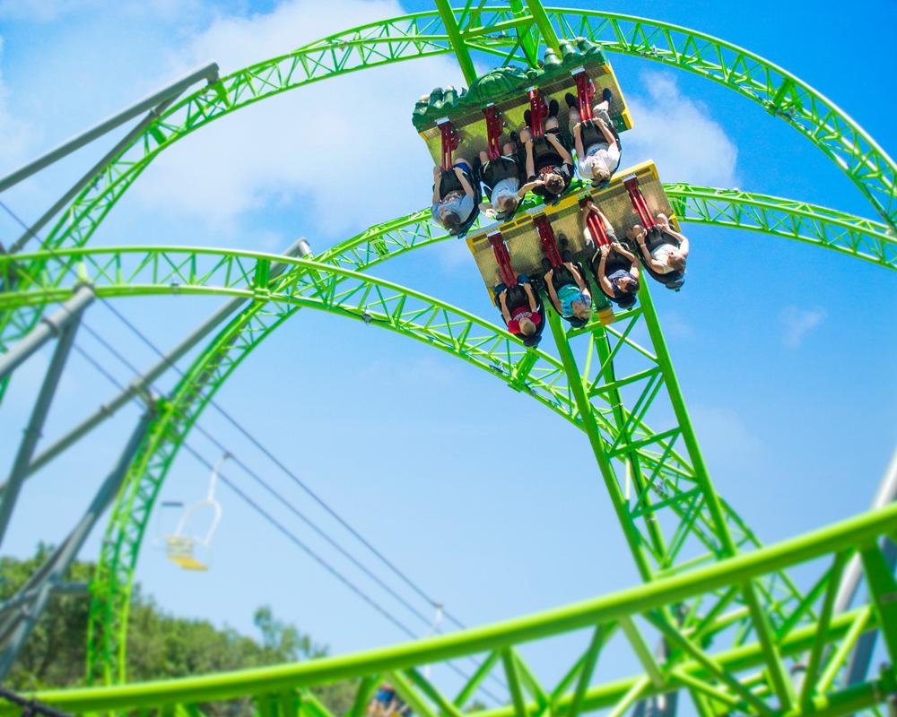 Monster Roller Coaster Altoona Iowa Adventureland Park
