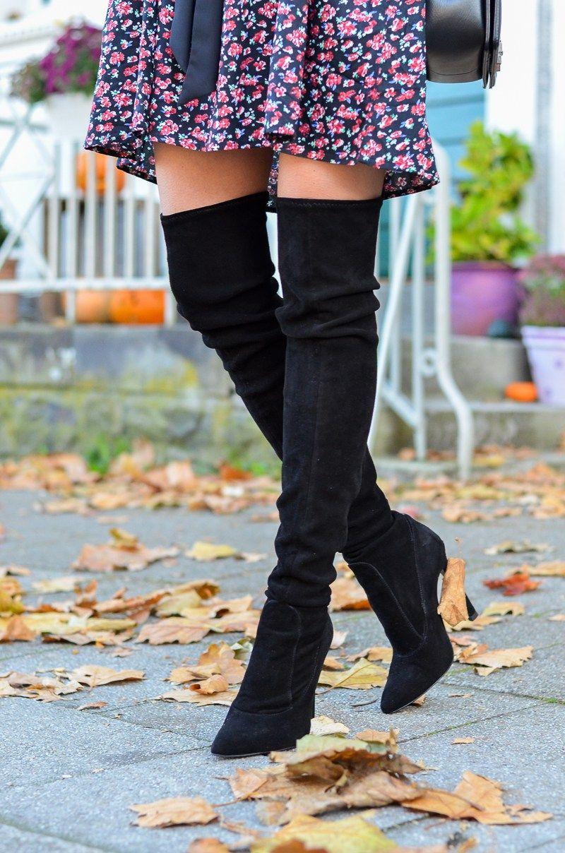 Boots Blumenkleidamp; Zara Fleur OutfitPetite Overknee QrxBeodCW