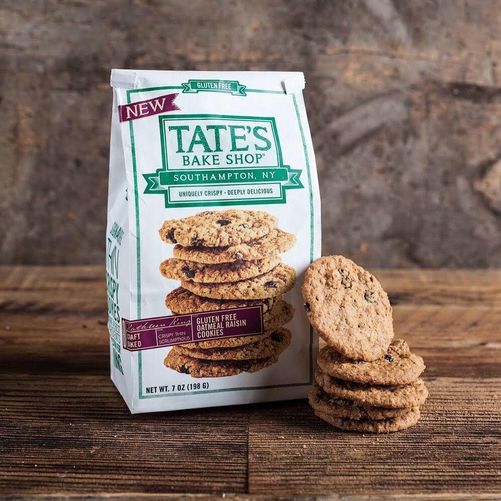 New glutenfree oatmeal raisin cookies from tates bake
