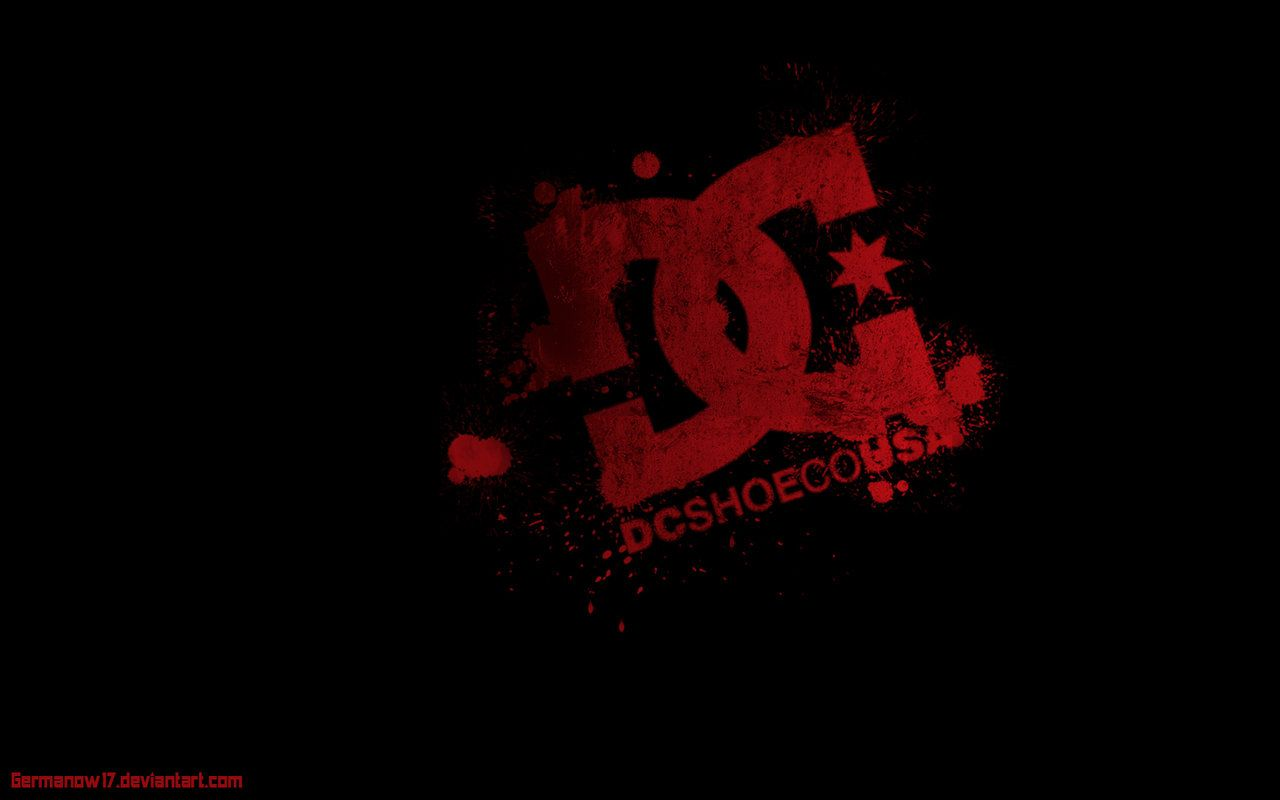dc shoes red logo in black wallpaper hd for desktop wide | bolsos