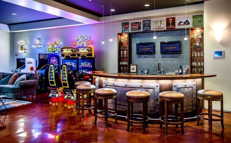 Retro basement decorating google search basement ideas for Home bar decorations ideas