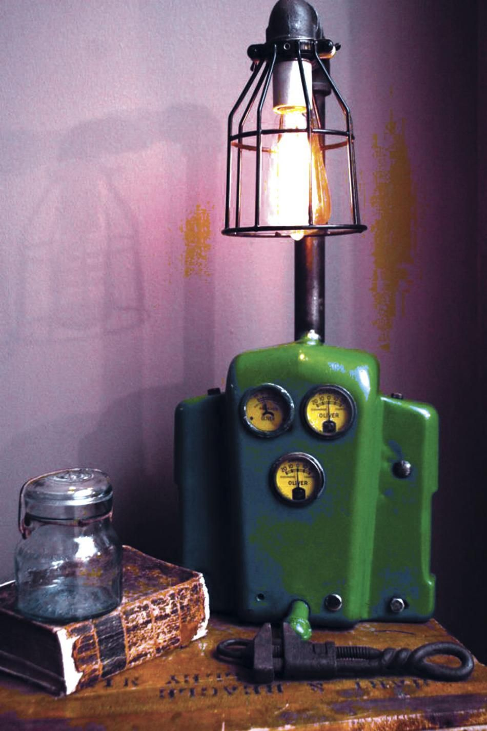 FARM SHOW Farm Lamps Made From Antique Tractor Parts